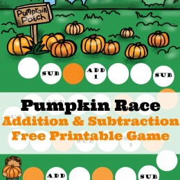 FREE Pumpkin Race Printables Pack (instant download)