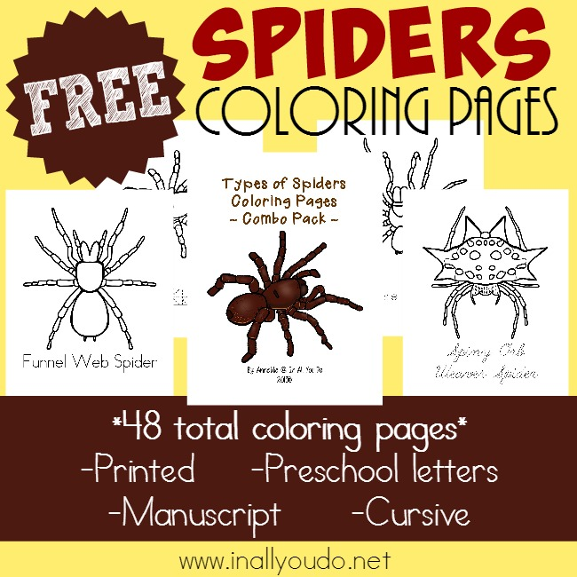 FREE Spider Pages