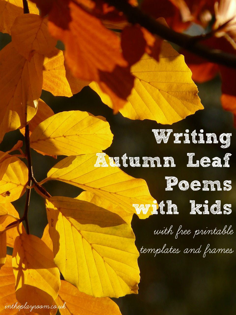FREE Autumn Leaf Poetry
