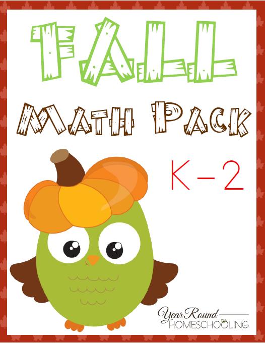 FREE Fall Math Pack