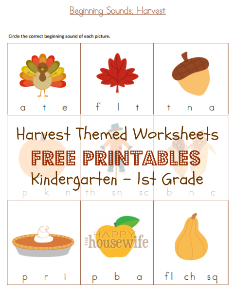 FREE Harvest Printables