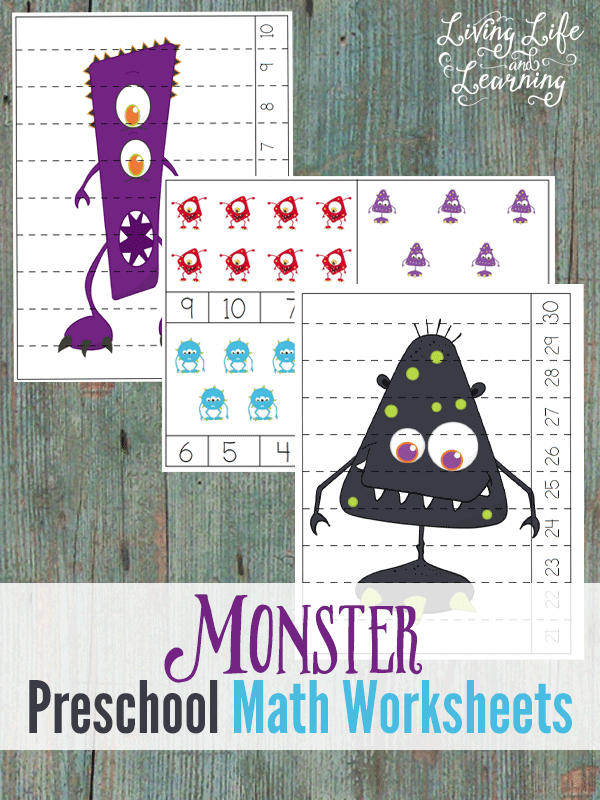 FREE Monster Math Worksheets
