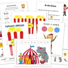 FREE Circus Printable Learning Pack
