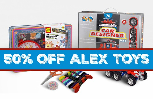 50% Off ALEX Toys - Today Only!