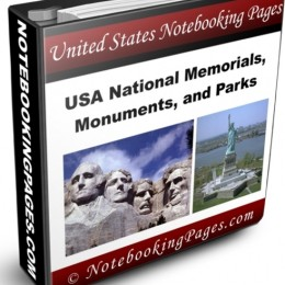 Free National Parks, Monuments, & Memorials Notebooking Pages ($10 Value!)