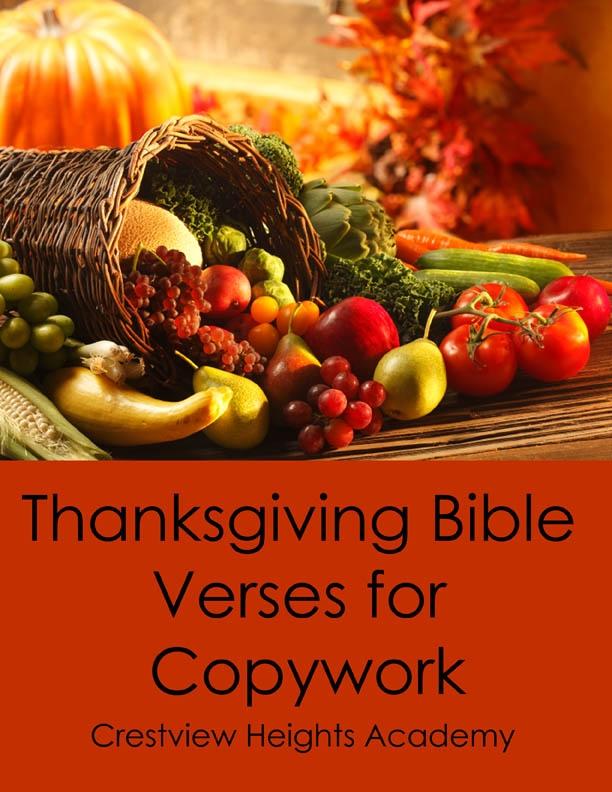 Free Thanksgiving Bible Copywork