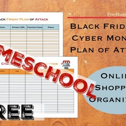 FREE HOMESCHOOL Black Friday and Cyber Monday Planning Printables Set!