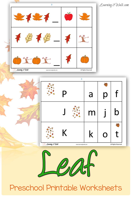 FREE Fall Preschool Printables | Free Homeschool Deals