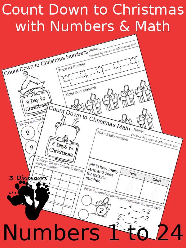 FREE Countdown To Christmas Math