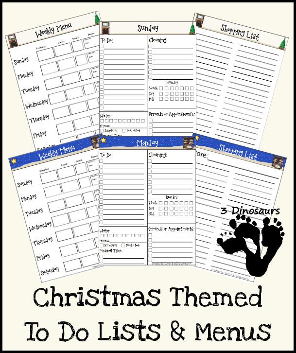 FREE Christmas Themed Printables