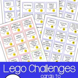 FREE Lego Challenge Cards