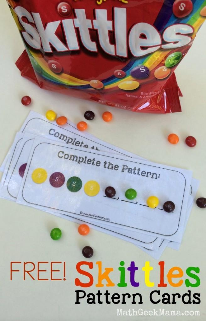 FREE Skittles Math printables