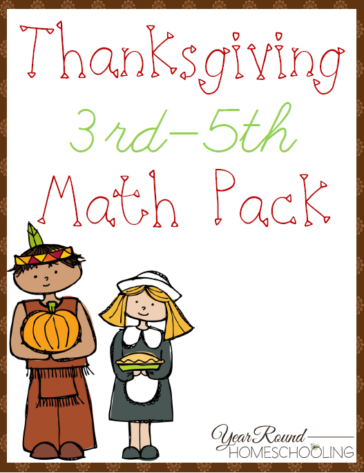 free thanksgiving 3rd 5th grade math pack. Black Bedroom Furniture Sets. Home Design Ideas