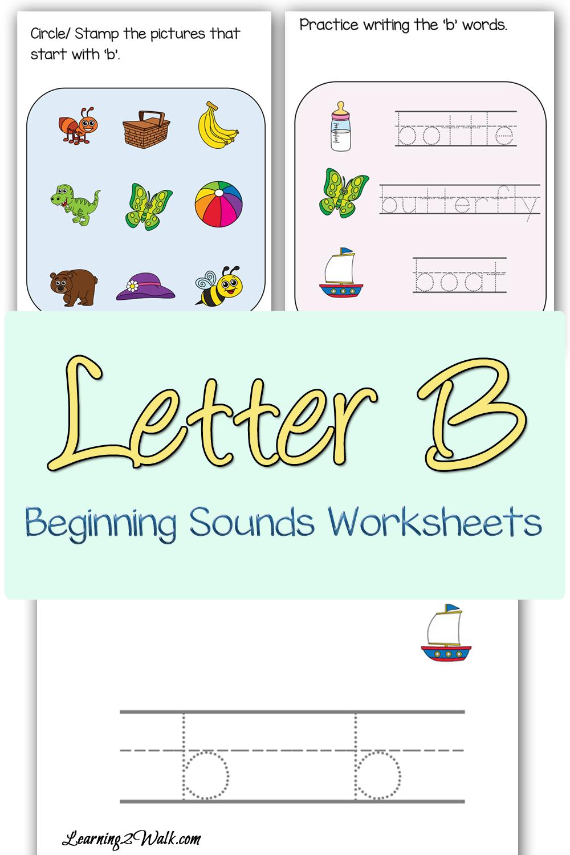 free letter b beginning sounds worksheets. Black Bedroom Furniture Sets. Home Design Ideas
