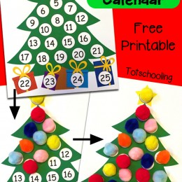 FREE Advent Tree Calendar