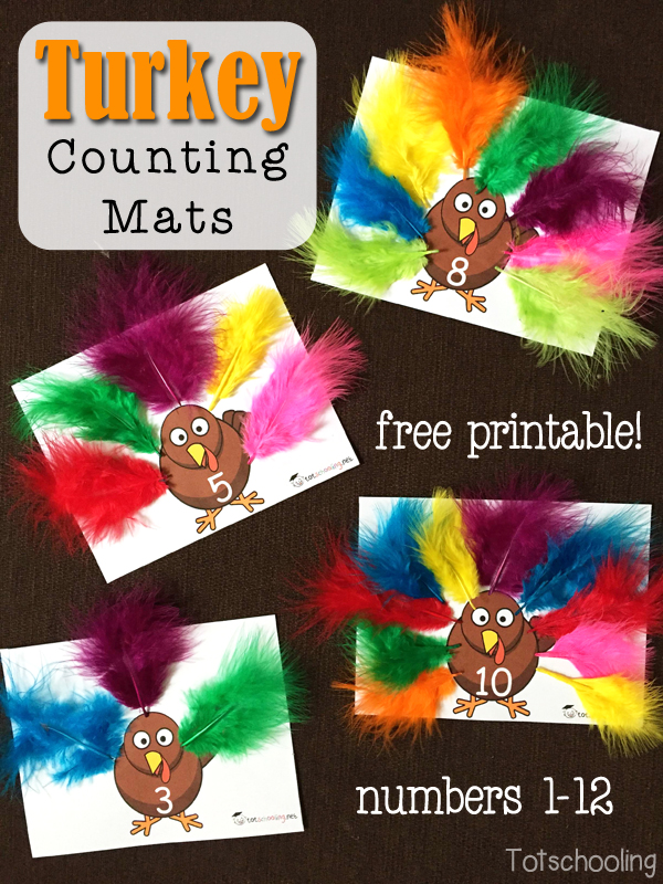 FREE Turkey Counting Mats