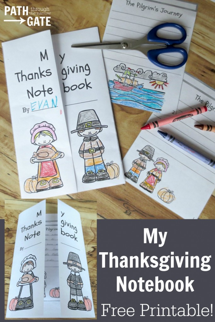 FREE Thanksgiving Notebook