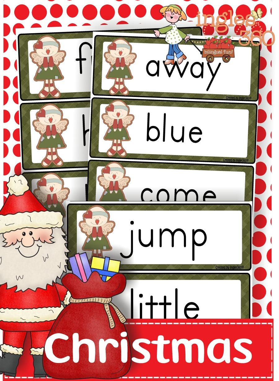 Free Christmas Sight Words Printables