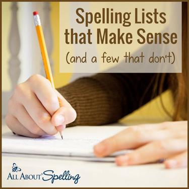 Spelling Lists That Make Sense