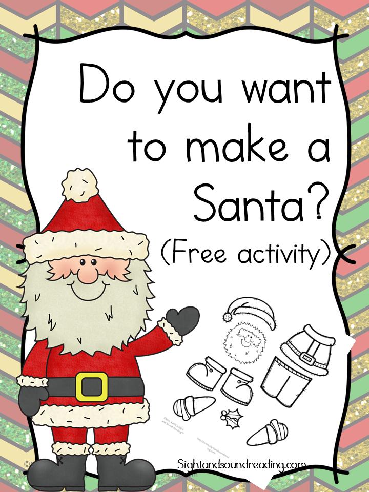 Santa Worksheets For Kindergarten