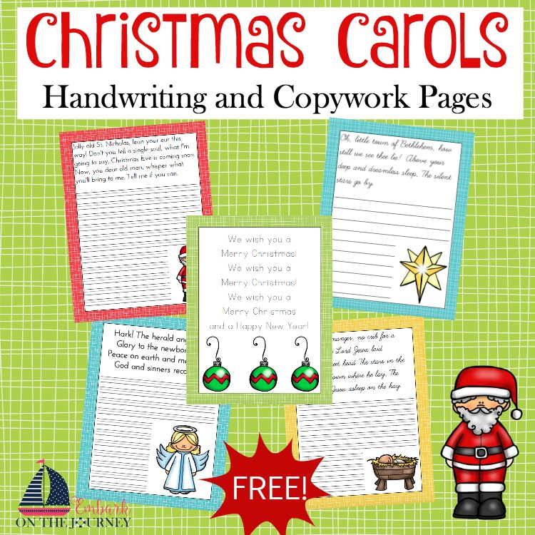 FREE Christmas Handwriting Pages