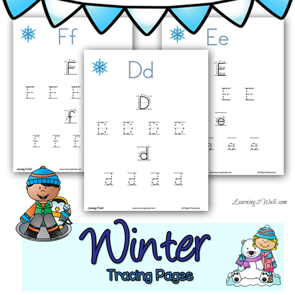 FREE Winter Tracing Pages