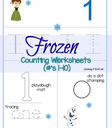 FREE Frozen Counting Worksheets