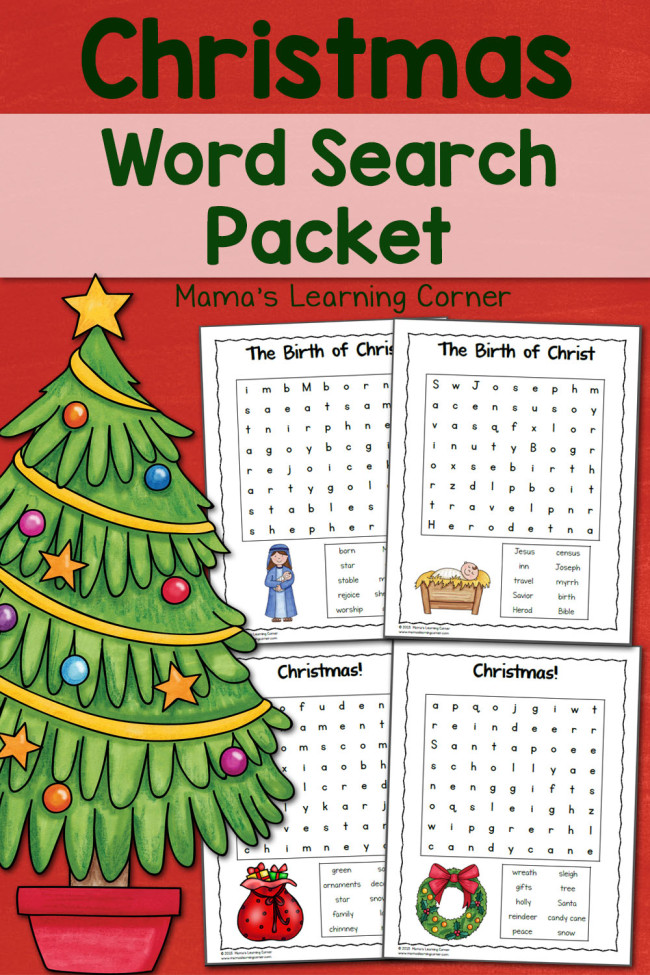 FREE Word Search Packet