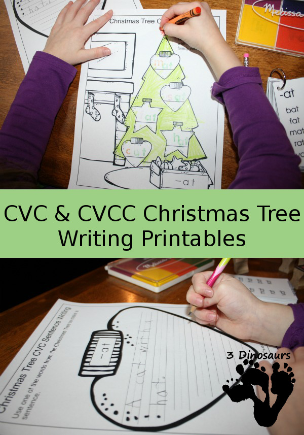 FREE Christmas Tree Writing Printables