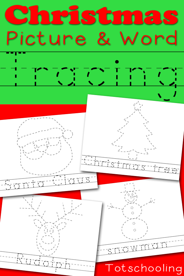FREE Christmas Tracing Pages