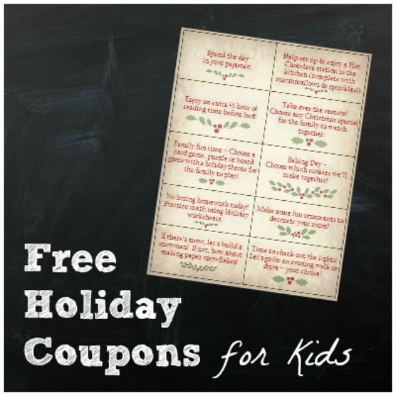 FREE Holiday Coupons