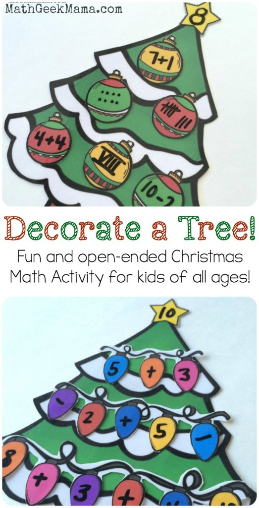 FREE Decorate a TREE Math
