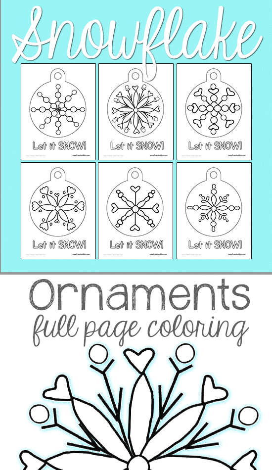 FREE Ornaments Coloring