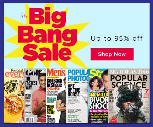 The Big Bang Magazine Sale - Up to 95% Off!