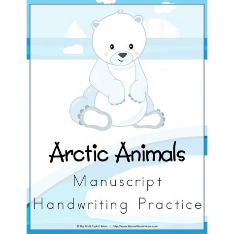 Free Arctic Animals Handwriting Worksheets