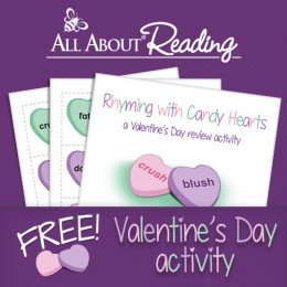 Free Rhyming with Candy Hearts Printables