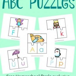 FREE ABC 3-PART PUZZLES