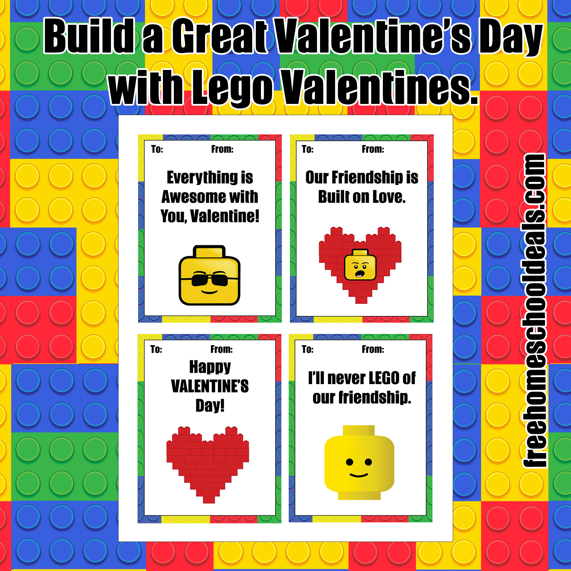 Free Printable Lego Valentines Instant Download Free
