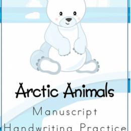 Free Arctic Animals Handwriting Worksheets Download