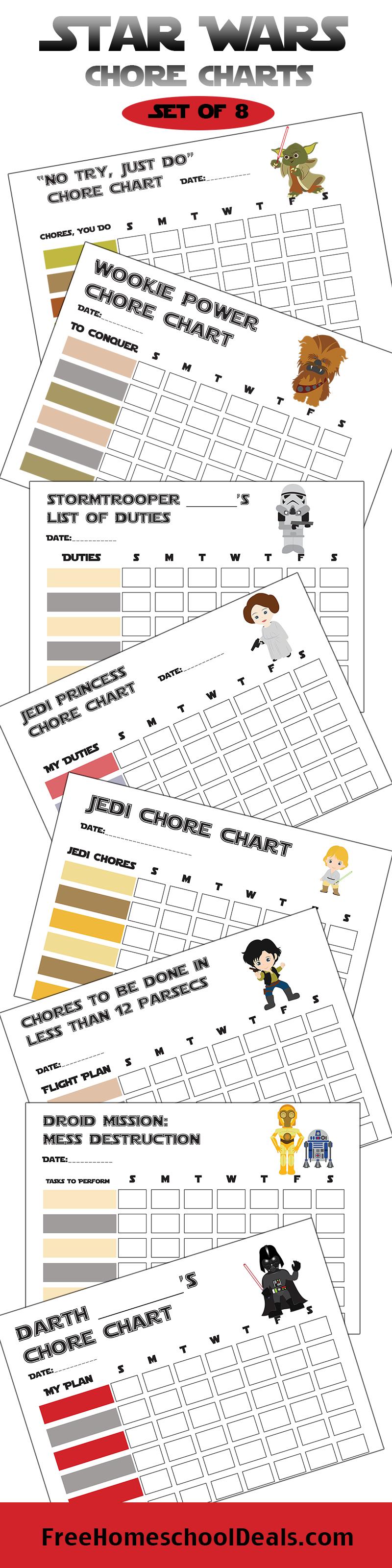 Free Printable Star Wars Chore Charts