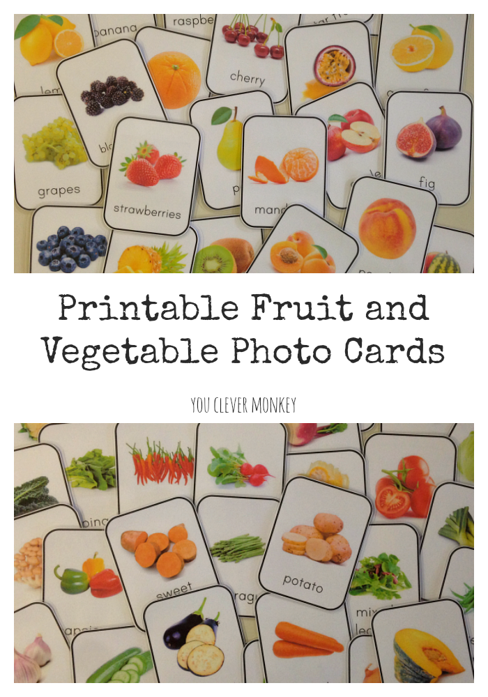 photo relating to Printable Fruit and Vegetables identified as Free of charge Printable Fruit and Vegetable Playing cards