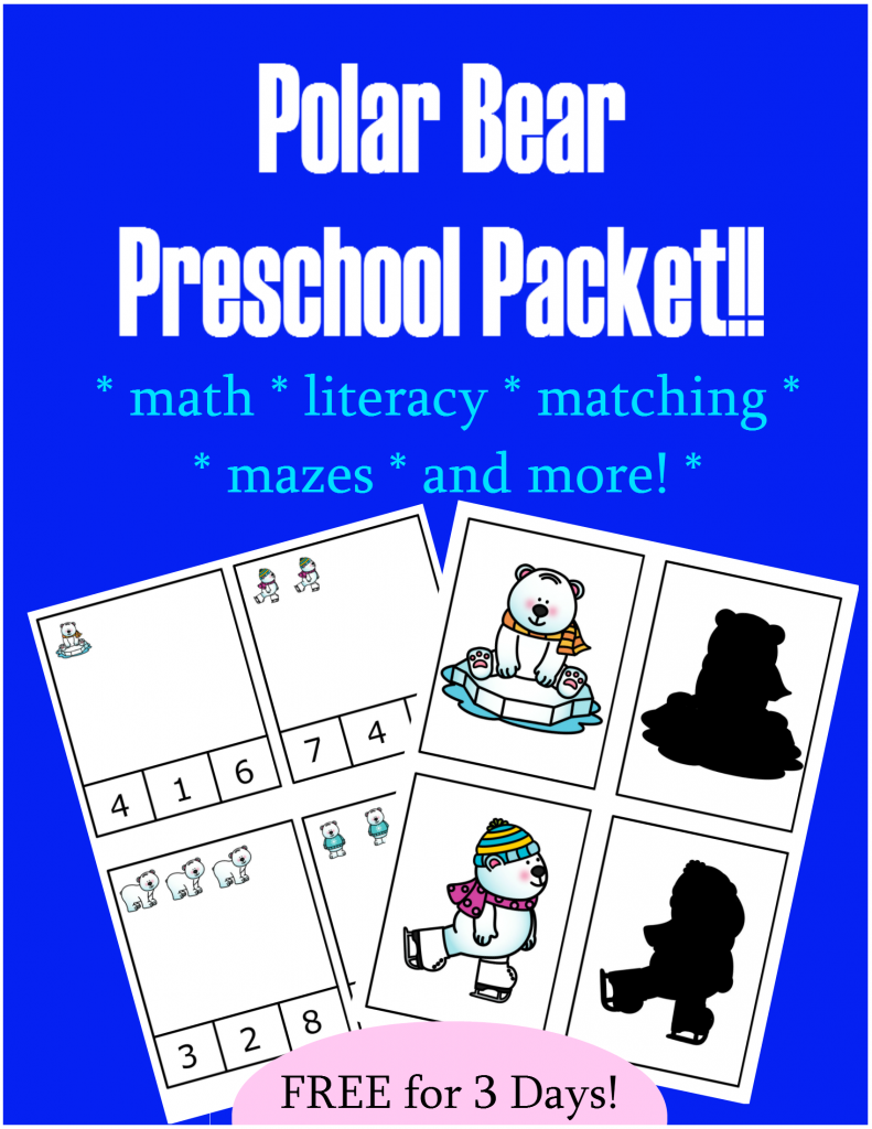 FREE Preschool Packet