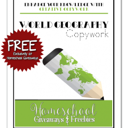 FREE World Geography Copywork