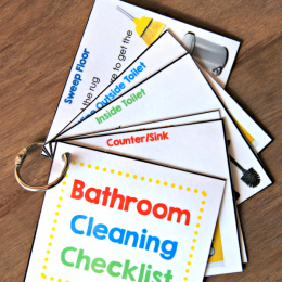 FREE Bathroom Chore List