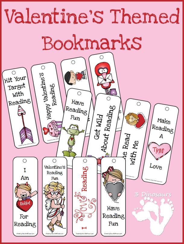 FREE Valentines Bookmarks