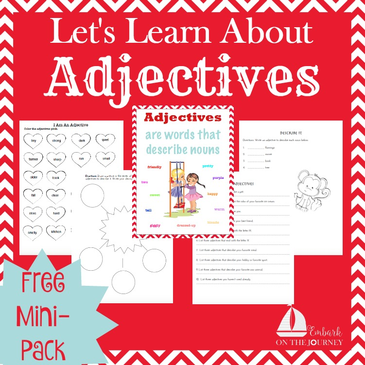 FREE Adjectives Pack