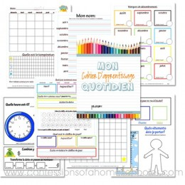 FREE Daily Learning Notebook French Version