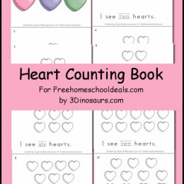 FREE VALENTINE'S HEART COUNTING BOOK (Instant Download)
