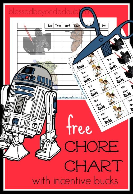 FREE Star Wars Chore Charts