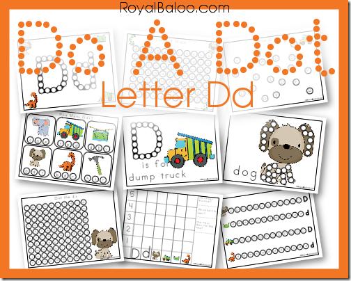 FREE Letter D Dot a do